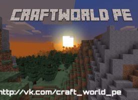 CraftWorld PE – отличный контент по майнкрафту
